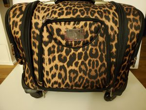LG rolling luggage leopard print for Sale in Downey, CA