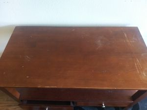 Cherry wood TV stand for Sale in Fort Worth, TX