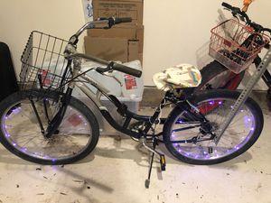 7-speed Jaguar Cruiser Bike - w. Flag post, spike lights, comfortable seat padding and basket for Sale in San Francisco, CA