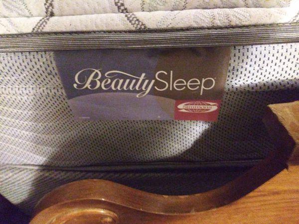 Queen size beauty sleep mattress&boxsprings and bedframe