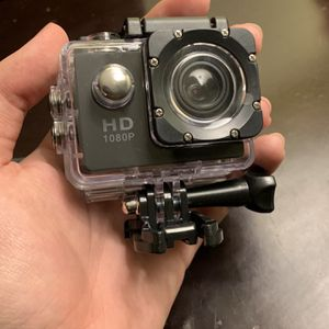 Full HD 1080P Action Camera with all Mounts and Waterproof Material Mint Condition for Sale in Escondido, CA