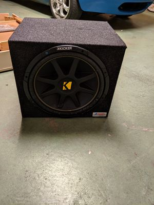 15 in. Kicker Subwoofer and box for Sale in Tempe, AZ