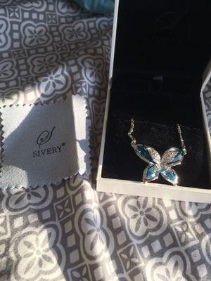 Swarovski Blue Butterfly Necklace for Sale in Manassas Park, VA