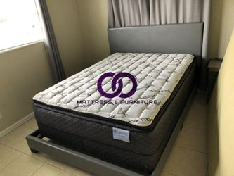 QUEEN MATTRESS BED PILLOW TOP COMFORT FREE BOX SPRING 🎗️Mattress&Furniture🎗️ QUEEN FULL KING TWIN 🎗️ COLCHONES NUEVOS Y CAMAS for Sale in Miami Gardens,  FL
