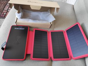 NEW! 20000mah Solar powerbank for your cellphones ipad iphone tablet earbud case for Sale in Las Vegas, NV