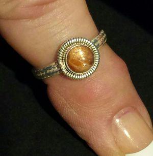 Sri Lankan Sunstone Sterling Silver Ring for Sale in Lawrenceville, GA