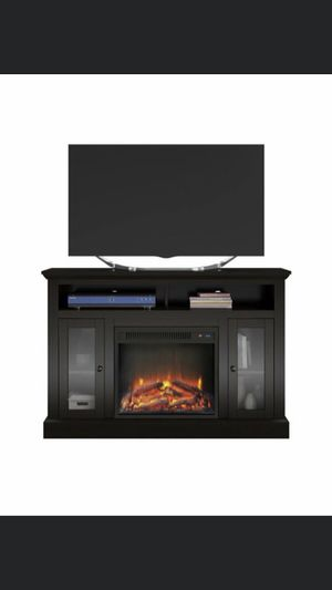 Fireplace TV Stand holds up to 50in for Sale in Detroit, MI