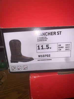 11.5m Wolverine rancher work boots steel toe for Sale in Marysville, WA