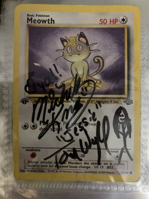 Signed Meowth Card for Sale in Columbus, MS