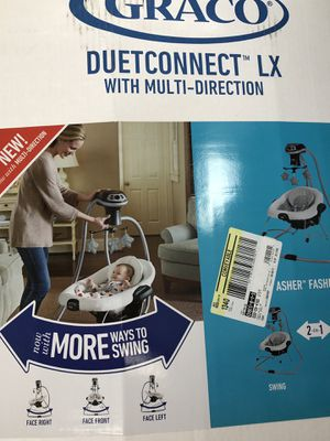 Graco duet connect multidirectional baby infant swing, portable bouncy chair, 3 ways to swing for Sale in Huntington Beach, CA