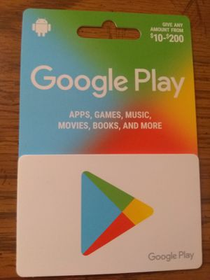 $200 value google play card for Sale in Chicago, IL