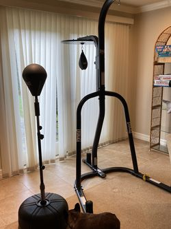 Heavy Punching Bag Stand And Reflex Bag for Sale in Seattle,  WA