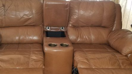 Leather Recliner Love Seat & Ottoman for Sale in Palm Harbor,  FL