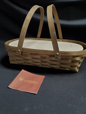 Longaberger basket with insert for Sale in Tacoma, WA