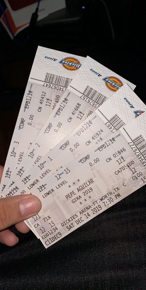 4 Pepe Aguilar tickets Dickies Arena For Today!! for Sale in Irving, TX