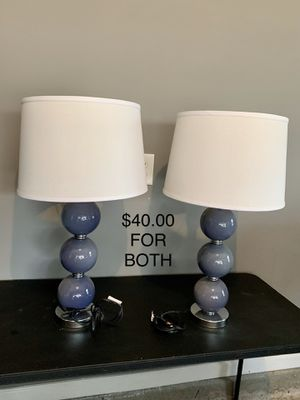 PAIR OF LAMPS BRAND NEW for Sale in Clover, SC