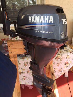 Yamaha 15hp 15 hp Tiller Four-stroke Outboard Engine Motor for Sale in Pompano Beach, FL