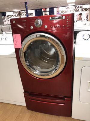 LG red dryer with pedestal for Sale in Woodbridge, VA