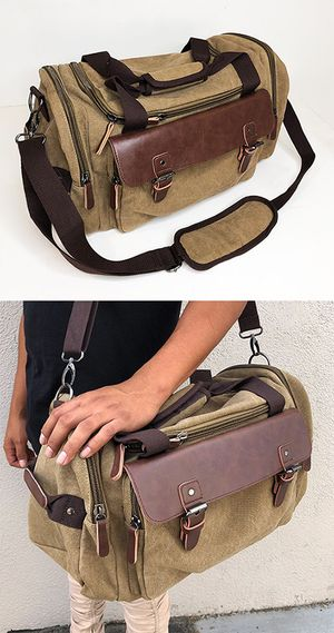 """(NEW) $20 Mens Vintage Travel Duffel Bag Hand Gym Sports Shoulder Strap Backpack 18x9x11"""" for Sale in Whittier, CA"""