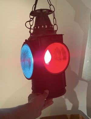 Neon light vintage railroad lamp for Sale in Los Angeles, CA