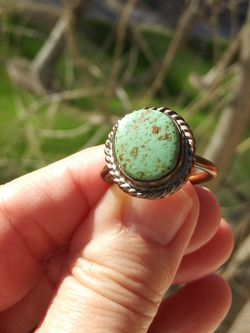Vintage Native American Turquoise and Copper Ring. Hand Made. One Of A Kind. Size 7. for Sale in Phoenix,  AZ