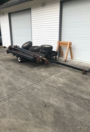 Flatbed tilt trailer w lights. For lawn mower, boat, motorcycle etc. for Sale in Vancouver, WA
