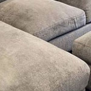 Grey Couch, Ottoman, Pillows for Sale in Costa Mesa, CA