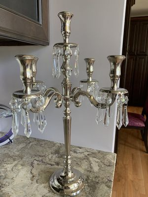 Stunning silver and crystal candelabra for Sale in Germantown, MD