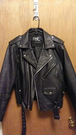 Mens leather biker jacket. for Sale in Pittsburgh, PA