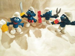 Vintage Smurf toy figures for Sale in Beaumont, TX
