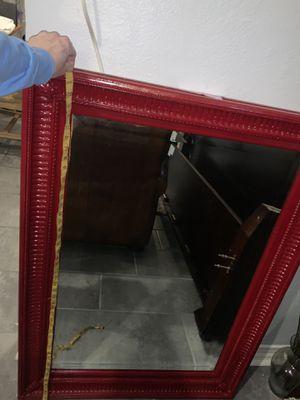 Big Framed red mirror for Sale in Pineville, LA