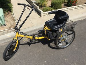 Pav 3 electric trike tricycle adult bike bicycle for Sale in Lake Forest, CA