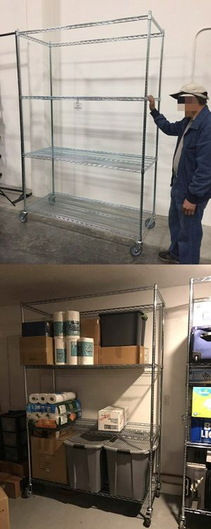 Brand new in box 7.5 feet tall 24x60x90 inches tall 1000 lbs capacity heavy duty garage warehouse storage shelve organizer with locking wheels for Sale in South El Monte, CA