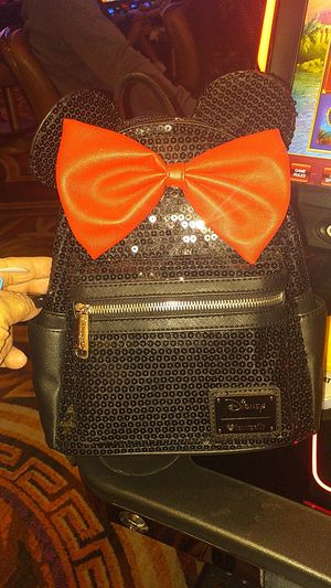 Black and red sparkly Minnie Mouse backpack for Sale in Las Vegas, NV