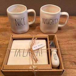 Rae Dunn Holiday 2 Naughty Nice Mugs for Sale in Snoqualmie Pass,  WA