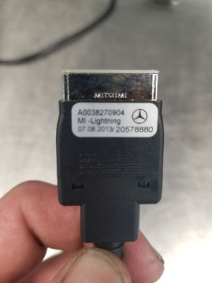 Mercedes Benz media interface cable with 90⁰ apple lighting connector for Sale in Tacoma, WA