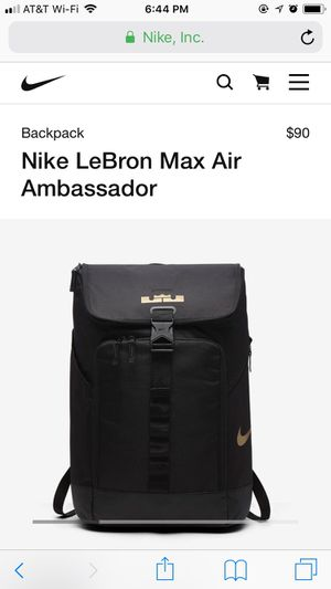 Lebron Max Air Backpack for Sale in Pittsburgh, PA