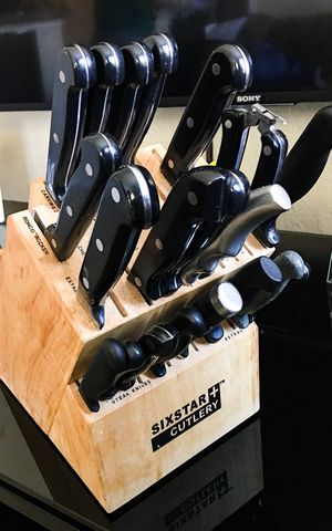 Sixstar Cutlery. Knifes & Block for Sale in Frisco, TX