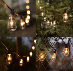 BUY FROM A 5 STAR SELLER ⭐️ ⭐️⭐️⭐️⭐️ 😀BRAND NEW SUMMER SPRING STRING LIGHTS 20 FEET .20 BULBS SOCKET, OUTDOOR / WITH 2 EXTRA BULBS FIRM $30 EACH for Sale in Riverside,  CA