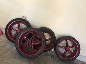 Red rims for Sale in San Bernardino, CA