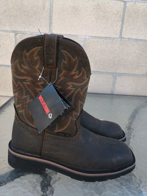 Brand new wolverine steel toe work boots size 8 for Sale in Riverside, CA