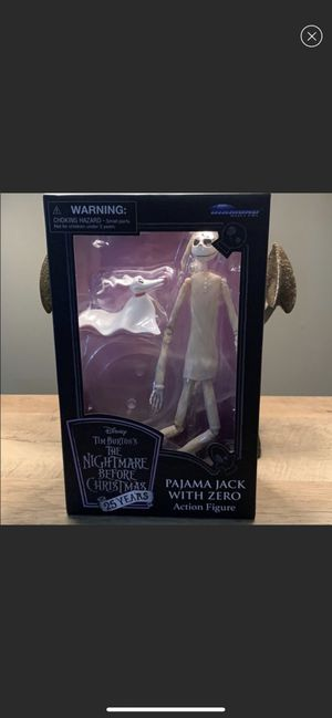 LIMITED EDITION 25th ANNIVERSARY MINT CONDITION BRAND NEW The nightmare before Christmas Pajama Jack with Zero Action Figure for Sale in South Brunswick Township, NJ