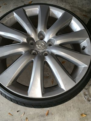 """Mazda CX-9 20"""" rims for sale tires are almost new asking 1,000 or best offer for Sale in Apollo Beach, FL"""