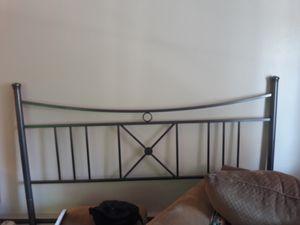 King bed frame, box spring, mattress for Sale in Wenatchee, WA
