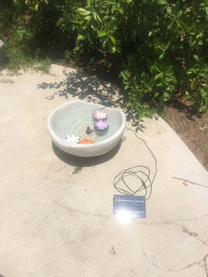 "Bubbling Solar Fountain, 20"" x 10""h for Sale in Riverside, CA"