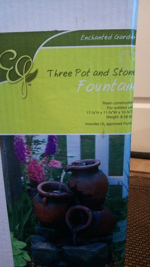 Tree pot and stone fountain for Sale in Justice, IL