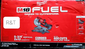Milwaukee M18 Fuel 18-Volt 10 in. Lithium-Ion Brushless Cordless Dual Bevel Sliding Compound Miter Saw Kit with One 8.0 Ah Battery for Sale in Fullerton, CA