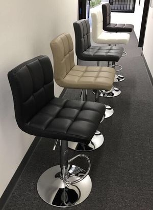 "NEW $40 each 24"" to 33"" seat height swivel barstool bar chair black brown grey or white for Sale in Covina, CA"