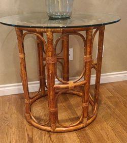 Bambo Rattan Table for Sale in Auburn,  WA