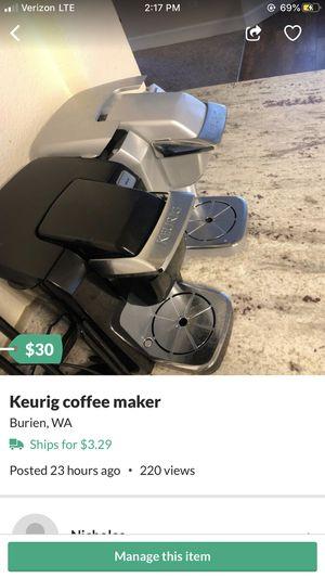 Keurig coffee maker for Sale in Seattle, WA